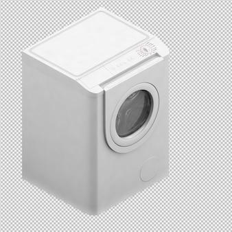 Isometrische wäschereimaschine 3d übertragen