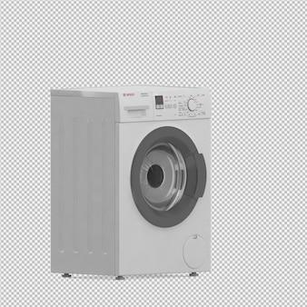 Isometrische waschmaschine 3d übertragen