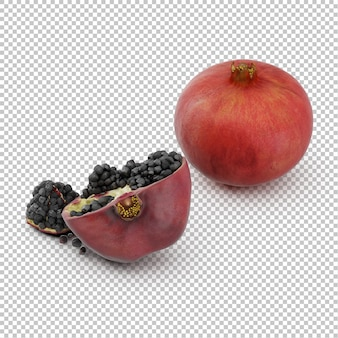 Isometrischer granatapfel