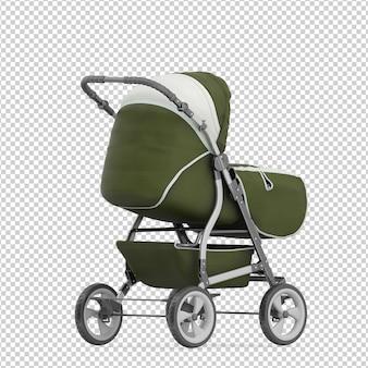 Isometrischer kinderwagen