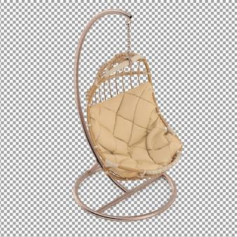 Isometrischer korbstuhl