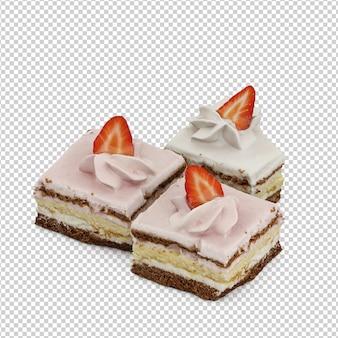 Isometrischer kuchen