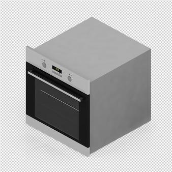 Isometrischer küchenbereich 3d übertragen