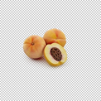 Isometrischer pfirsich