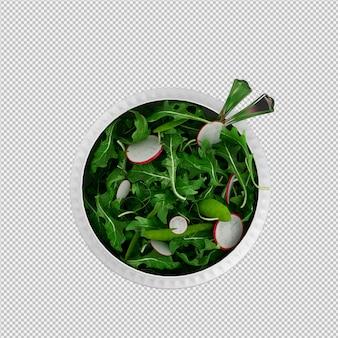 Isometrischer salat 3d übertragen