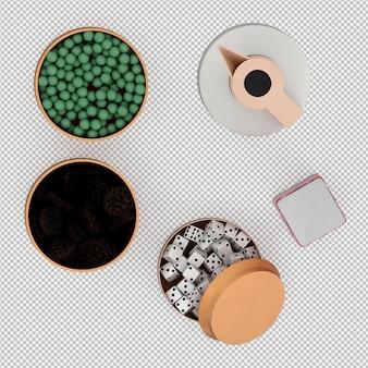 Isometrischer schalensatz 3d übertragen