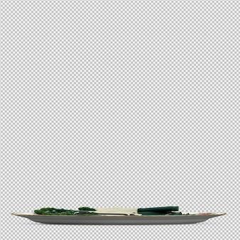 Isometrischer spargel 3d übertragen