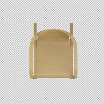 Isometrischer stuhl 3d übertragen