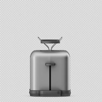 Isometrischer toaster 3d übertragen