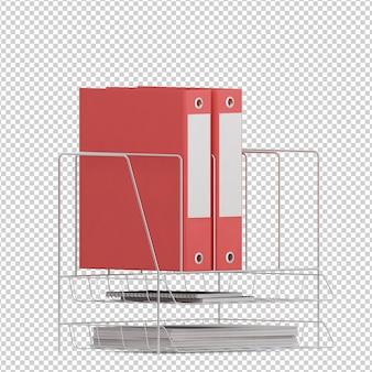 Isometrisches bürozubehör