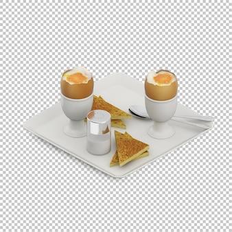 Isometrisches frühstück