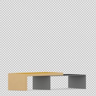 Isometrisches kabinett 3d übertragen