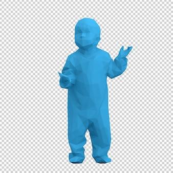 Isometrisches kind 3d übertragen