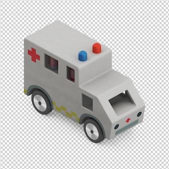 Isometrisches kinderautospielzeug