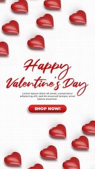Isometrisches modell der feier zum valentinstag der sozialen medien 3d