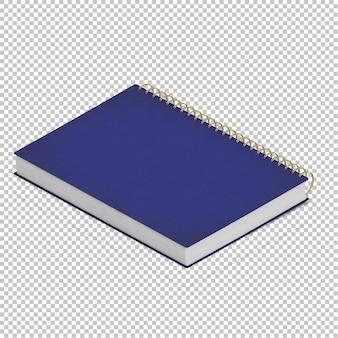 Isometrisches notizbuch
