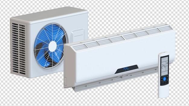 Isometrisches set der klimaanlage