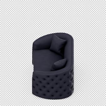 Isometrisches sofa 3d übertragen getrennt