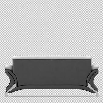 Isometrisches sofa 3d übertragen