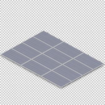 Isometrisches solarpanel