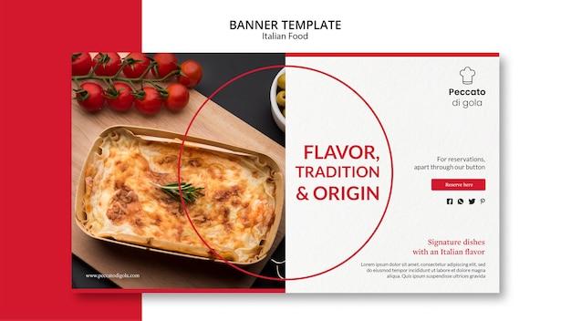 Italienische küche banner design