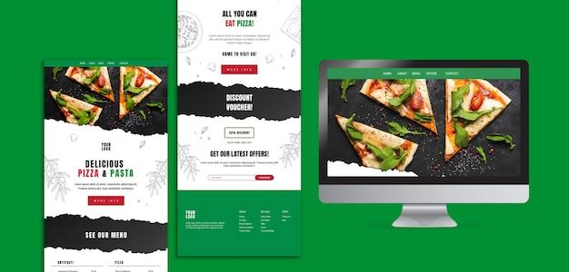 Italienische lebensmittel-website-vorlage
