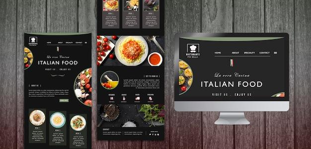 Italienische lebensmittelpapiervorlage