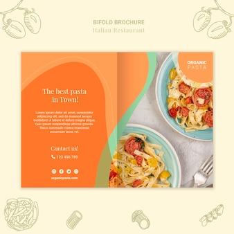 Italienische restaurant-bifold-broschüre