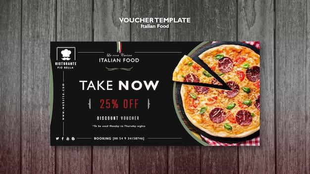 Italienischer essensgutschein