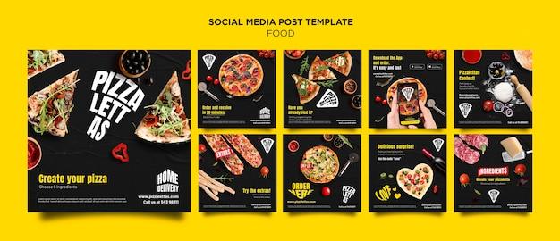 Italienisches essen social media post
