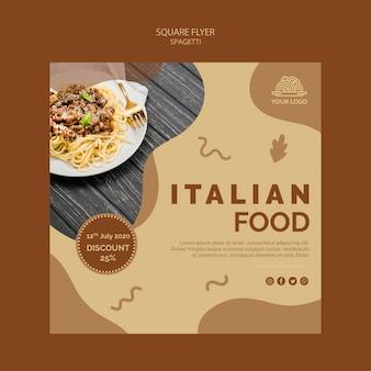 Italienisches essensfliegerthema