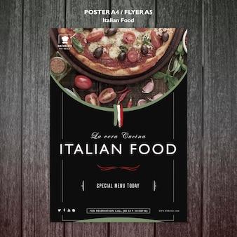 Italienisches lebensmittelplakat