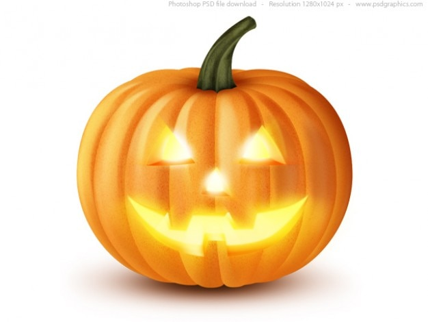 Jack o 'lantern, halloween-kürbis-symbol (psd)