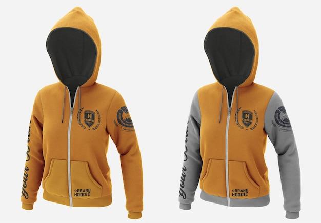 Jacke sweatshirt hoodie mockup isoliert