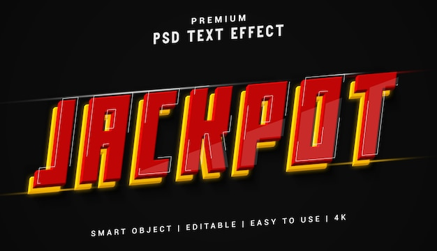 Jackpot-texteffektgenerator
