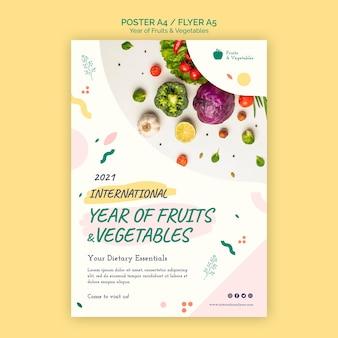 Jahr der obst und gemüse flyer vorlage Kostenlosen PSD