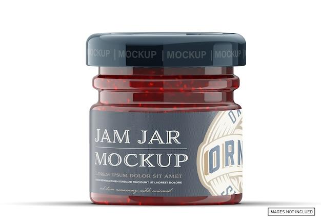 Jam jar package mockup
