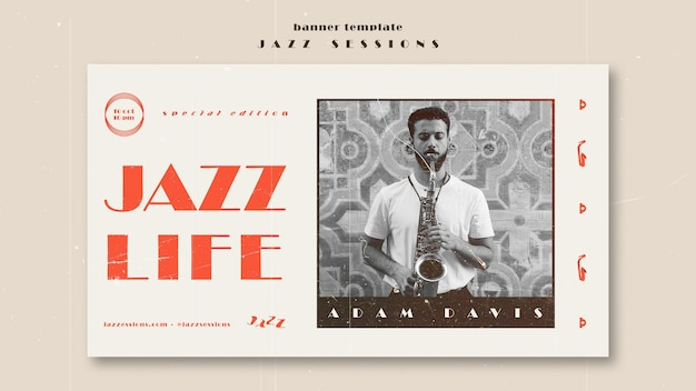 Jazz konzept banner vorlage