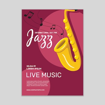 Jazz-musikposter-modell