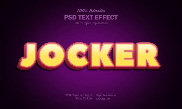 Jocker-texteffekt