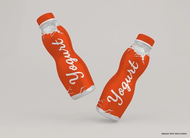 Joghurtflaschenmodell isoliert