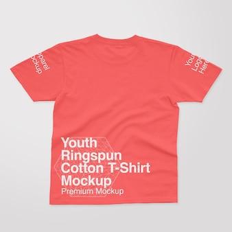 Jugend t-shirt mockup aus ringgesponnener baumwolle