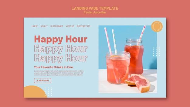 Juice bar landing page vorlage