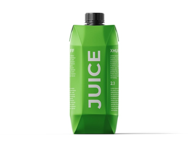 Juice box mockup vorlage
