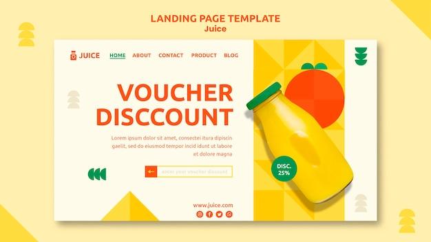 Juice landing page web-vorlage