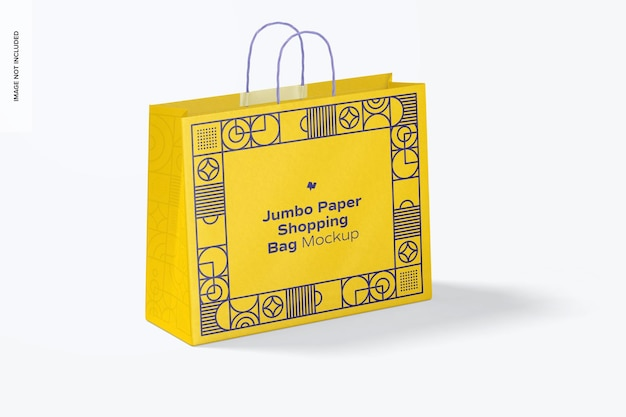 Jumbo paper shopping bag mockup