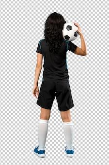 Junge fußballspielerfrau