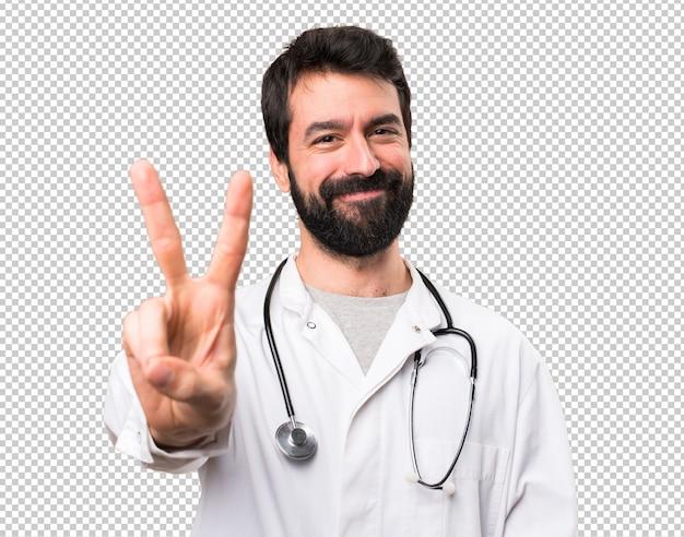 Junger doktor, der zwei zählt