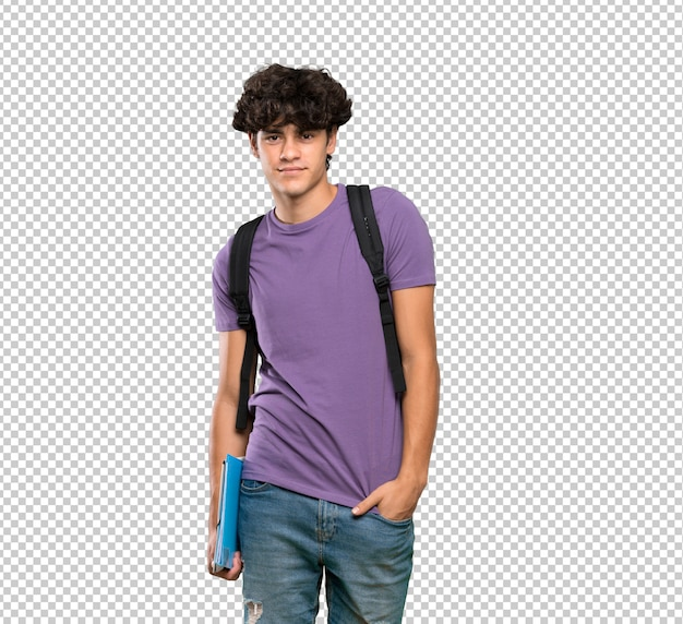 Junger student mann lachend
