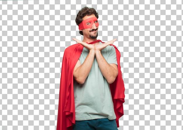 Junger verrückter superheld